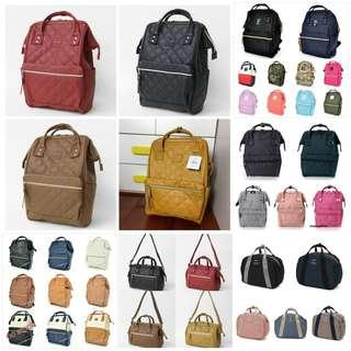 Authentic Anello Canvas / Leather / Nylon backpack