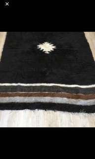 Wonderful vintage wool Moroccan rug, authentic