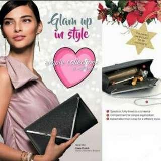 🚚 BN Nutrimetic (Tupperware) Glam Clutch bag with detachable chain strap