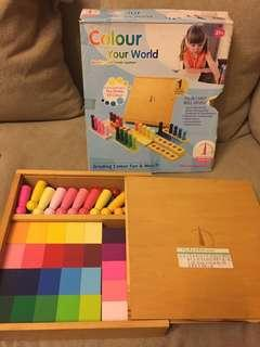 Montessori Number Colour Cubic 蒙特梭利 教材 玩具