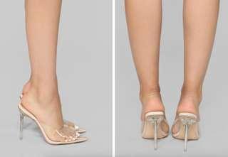Perspex Heels - Size 7.5