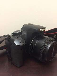 Canon lens EF 50mm 1:1.8 with Canon 450d body