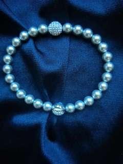 Grey Swarovski Pearl Bracelet