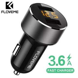 🚚 Fast Charge 3.6A USB Car Phone Charger Dual Port, USB Car Charger