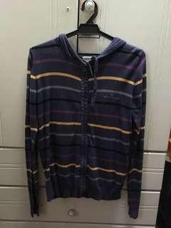 Navy Blue Sweater with multi colour stripes #SparkJoyChallenge