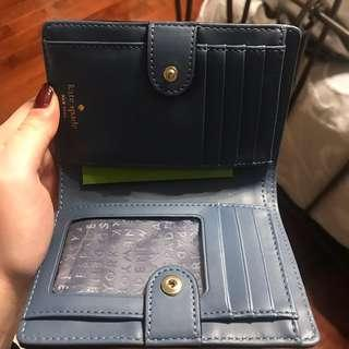 Kate Spade Blue Wallet- never used