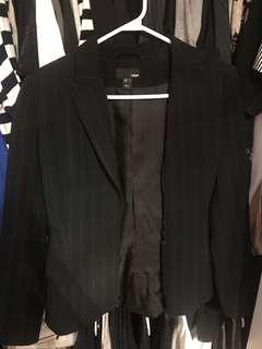 H and M Pin Stripe Blazer - size 4