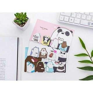 We Bare Bears Magnetic Bookmark
