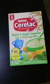Cerelac rice & vegetables cereal with milk