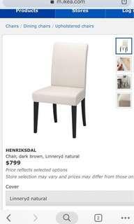 白色 餐椅 凳 chair 2張 $300/each 不散賣 接近全新  henriksdal