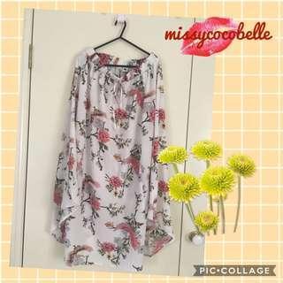 Never worn* Floral long skirt