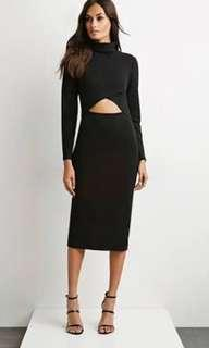 The Fifth Label White Light Long Sleeve Cutout Dress