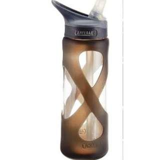 Camelbak Eddy Glass 700ml Water Bottle, Charcoal