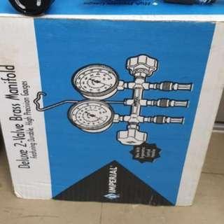 Imperial Delux 2-Valve Brass Refrigeration Manifold