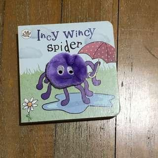 🚚 Baby Board Book Incy Wincy Spider with finger puppet