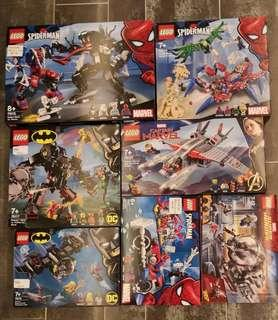 Lego SuperHeroes Sets without Figures