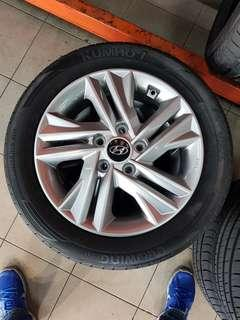 16 Inch 5x114.3 Used Original Hyundai Avante Rim & Tyre