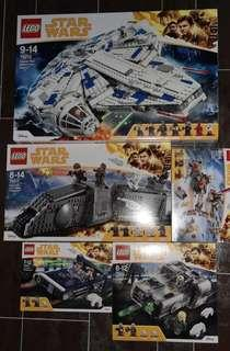 Lego Starwars Solo Sets without figures