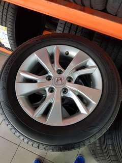 16 Inch 5x114.3 Used Original Honda Rim & Tyre