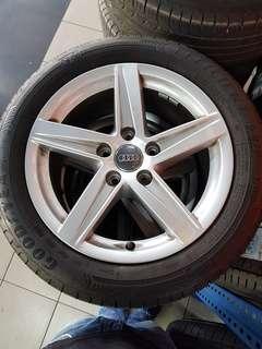 16 Inch 5x112 Used Original Audi Rim & Tyre