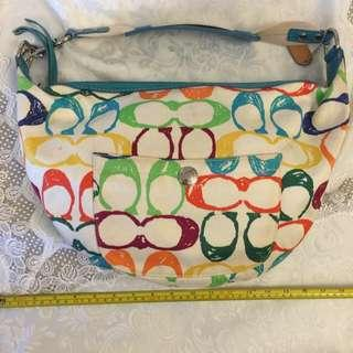 Prelov Coach Shoulder Bag. Condition good n clean inside n out. Used once or twice. Hav been kept in the wardrobe. Willing to let go cheap.