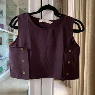 Purple Cropped Top