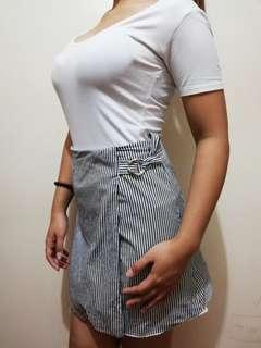 Stripes A-line skirt