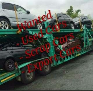 Wanted Used/Scrap Cars