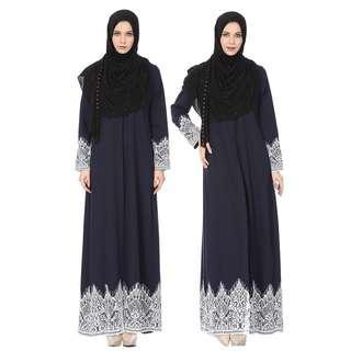 🚚 Lace Abaya Jubah Dress