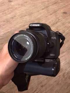 Canon EOS 500d + Battery Grip bonus Lensa fix 50mm 1.8 dll #SuperDeal