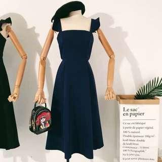 Elegant Dark Blue Dress