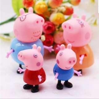 🚚 Peppa pig cake toppers/ Figurine/toy/Display/miniature