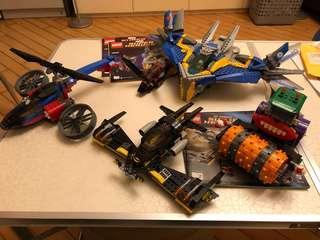 Lego 76021 76013 76016 無人仔 已砌 眼見咁多 極新少塵