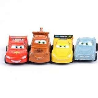 🚚 Disney Cars (pull-back) Lightning McQueen and friends racing car