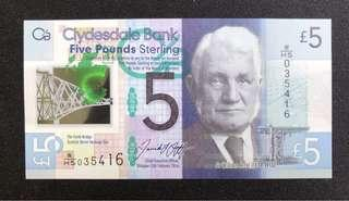 Five Dollar Pound New Note