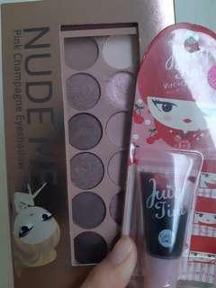 Eyeshadow pallete & liptint