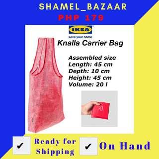 IKEA KNALLA CARRIER BAG RED and WHITE