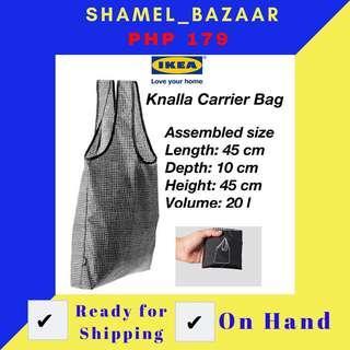 IKEA KNALLA CARRIER BAG BLACK/WHITE