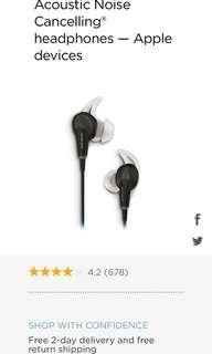 BOSE-QC20 Noise Cancelling Headphones