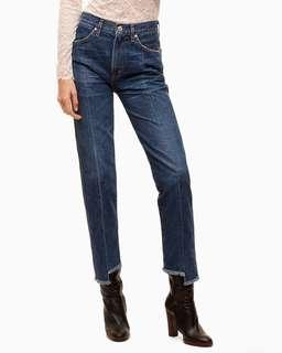 Aritzia wilfred x citizens of humanity liv stem hem jeans