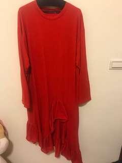Clane 紅色 洋裝
