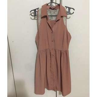 REPRICED F21 Button Down Fit & Flare Dress