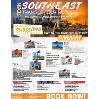 7D6N SOUTHEAST TRIANGLE TOUR PACKAGE