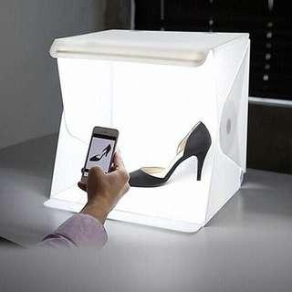 Lightroom mini photo studio box built-in backdrop led