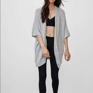 Aritzia community ionic cape cardigan navy