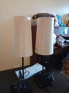 Ikea lamps, (a pair)