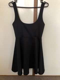 ASOS black dress pretty little thing skater