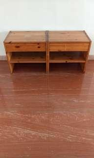 House moving - 2 x side tables with drawers