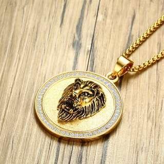 🚚 Gold Plate Line Fashion Pendant Necklace