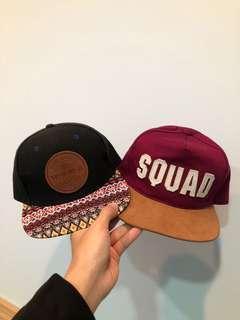 🚚 Squad+wvmk 酒紅 黑 棒球帽 可調